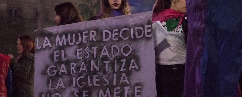 Manifestazione di donne argentine Non una di meno.