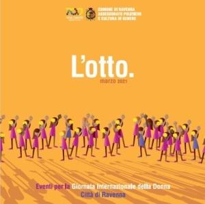 Brochure relativa agli eventi dell'otto marzo a Ravenna.